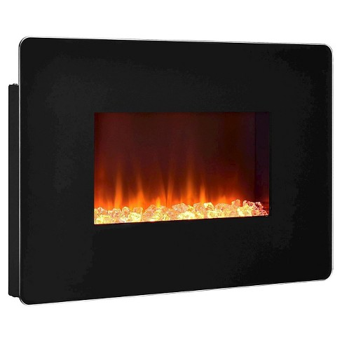 Kenna Small Wall Mounted Electric Fireplace Black Altra Target
