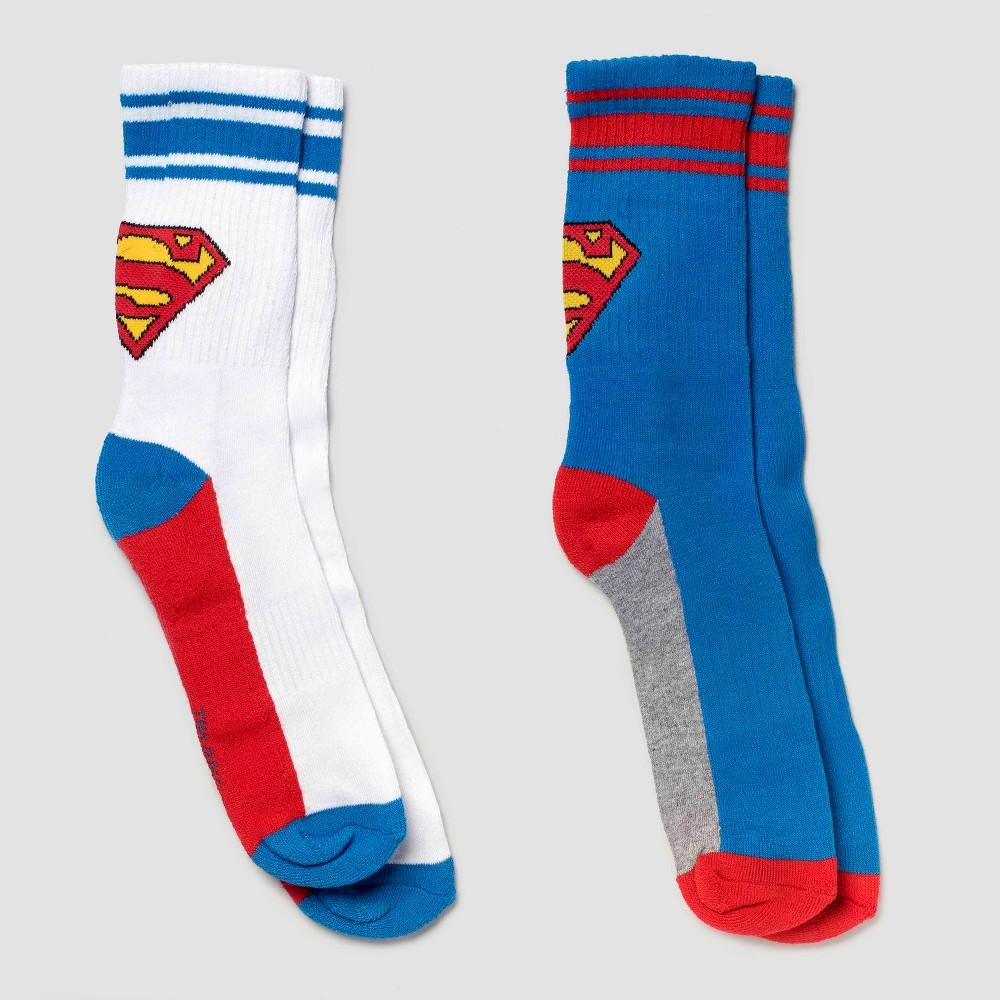 Kids' Superman Athletic Socks - Blue S/M, Kids Unisex