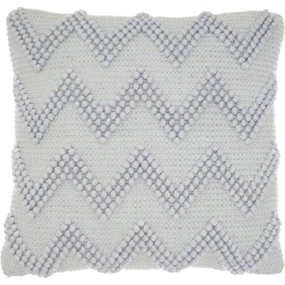 Chevron Oversize Square Throw Pillow Blue - Mina Victory
