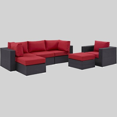 Convene 6pc Outdoor Patio Sectional Set - Modway