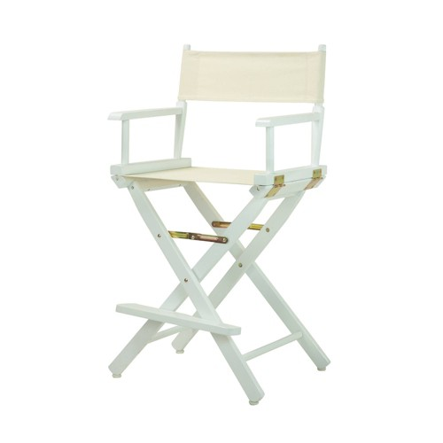 Counter Height Director's Chair White Frame - Flora Home, Wheat
