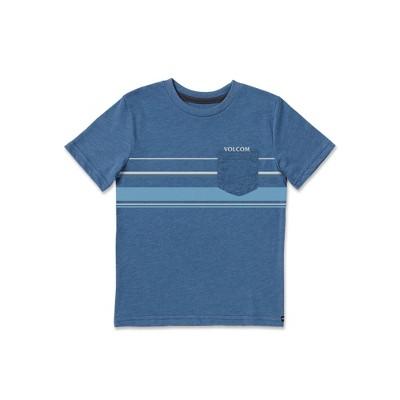 Volcom Boys Horizontal Liner Short Sleeve Pocket Tee