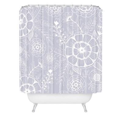 Rosebud Studio Floral Shower Curtain - Deny Designs