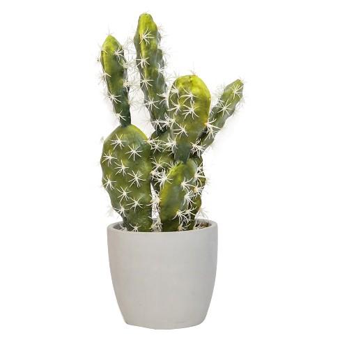 "Artificial Cacti Arrangement in Cement Pot Green 17"" - Lloyd & Hannah - image 1 of 1"