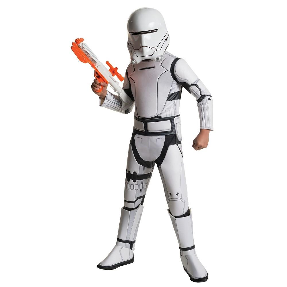Image of Halloween Star Wars: The Force Awakens Deluxe Flame Trooper Kids' Costume Medium (8-10), Adult Unisex, Size: Medium(8-10), MultiColored