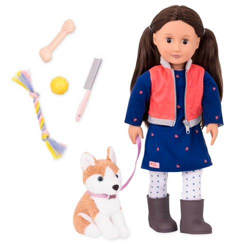 Our Generation Doll & Pet - Leslie with Husky - image 1 of 4