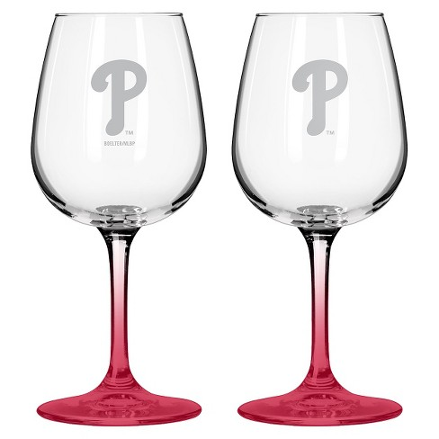 MLB Philles Wine Glass - Set of 2 - image 1 of 1