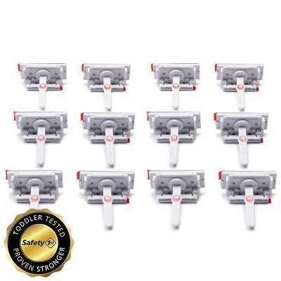 Safety 1st Adhesive Cabinet Latch For Childproofing - 12pk