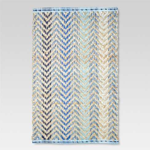 Yellow Abstract Woven Accent Rug - (2'x3') - Threshold™ - image 1 of 1