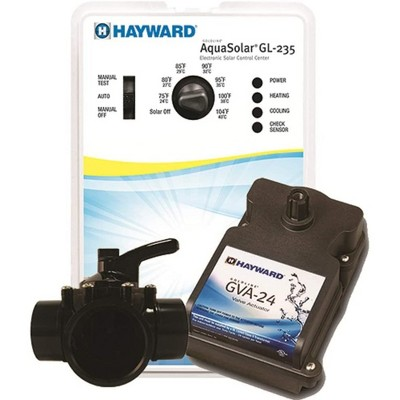 Hayward GLC-2P-A AquaSolar Programmable Swimming Pool Heating Control System Kit with 3-Way Valve, Actuator, and 2 PC Sensors