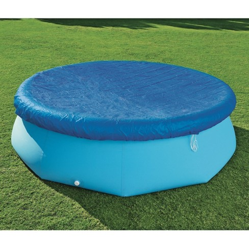 Bestway 58033E Flowclear Fast Set 10 Foot Above Ground Swimming Pool Cover,  Blue