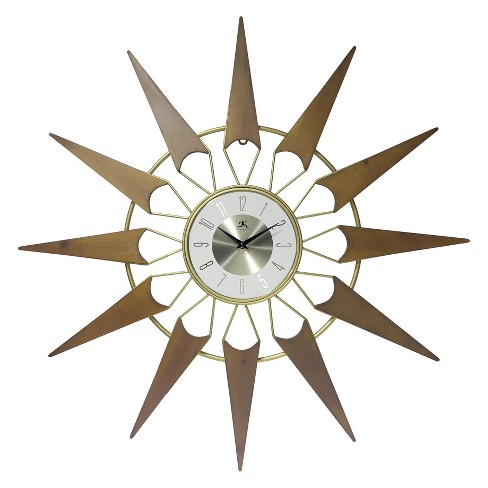 Infinity Instruments Starburst Wall Clock Gold