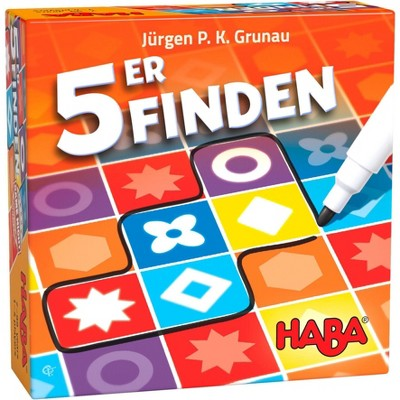 HABA 5er Finden - 5 Dice, 5 Rounds - A Speedy Roll & Write Pattern Recognition Game
