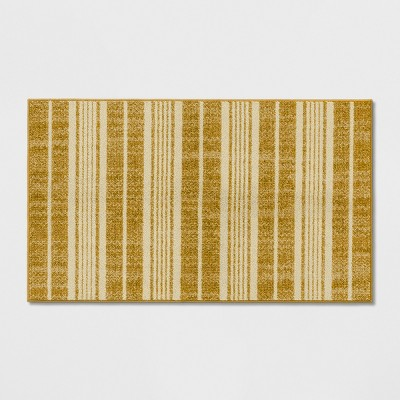 1'8 X2'10  Stripe Tufted Accent Rugs Gold - Threshold™