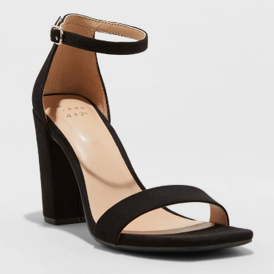 Women's Ema High Block Heeled Square Toe Pumps - A New Day™
