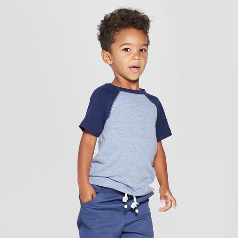 ccc80a5243d Toddler Boys  Short Sleeve Raglan T-Shirt - Cat   Jack™ Blue Navy ...