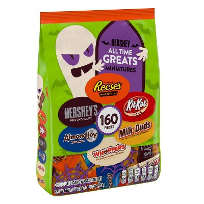 All Time Greats Reese's, Hershey's, Kit Kat, Almond Joy, Whoppers, and Milk Duds Halloween Chocolate Variety Pack - 52.3oz/160ct
