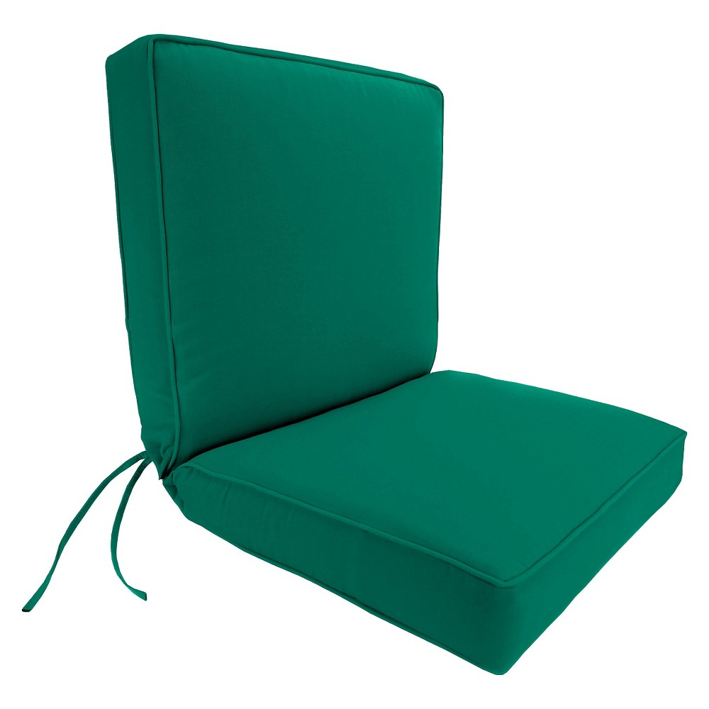 Image of Boxed Edge Chair Cushion - Emerald Green - Jordan