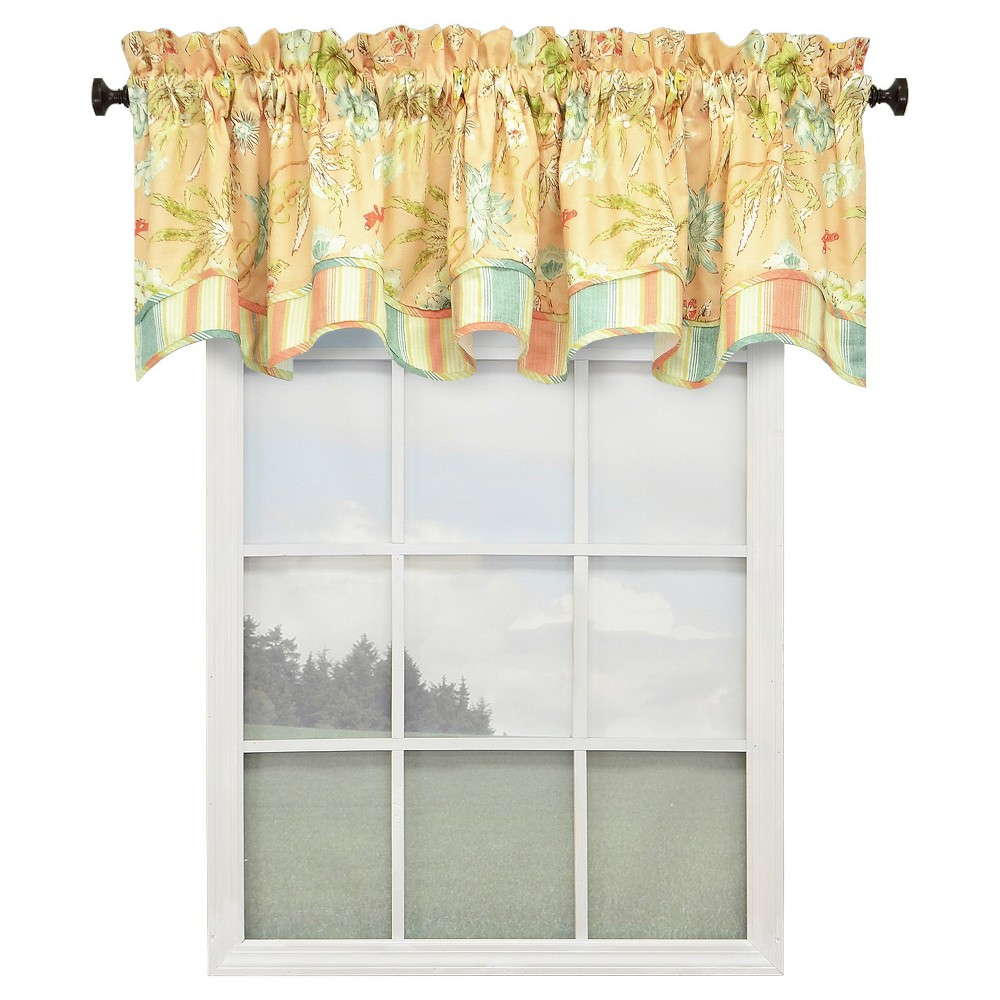 Waverly Cape Coral (Pink) Lined Window Valance - Coral (78''x18'')