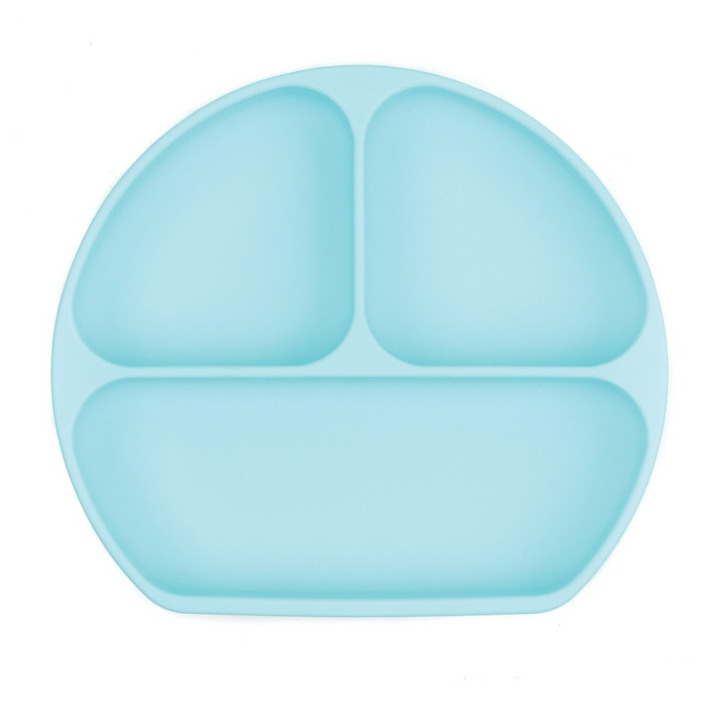 Image of Bumkins Silicone Grip Dish - Blue, Light Blue