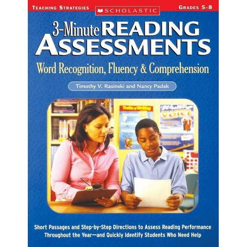 3-Minute Reading Assessments Prehension - by  Timothy Rasinski & Nancy Padak (Paperback) - image 1 of 1