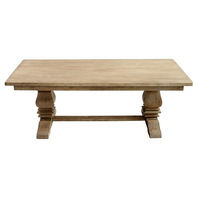 Sante Fe Balustrade Dining Table With Solid Top Wood/Rustic Mango Gray Wash    Casual Elements : Target