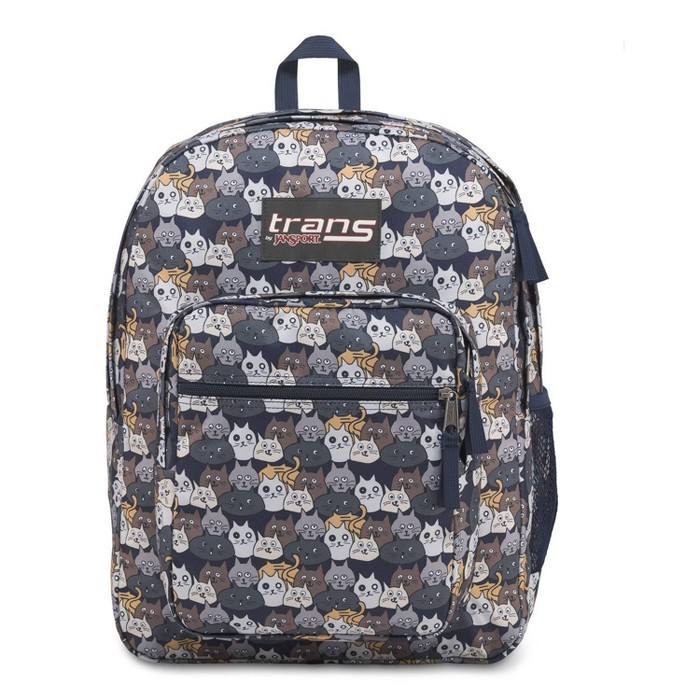 """Trans by JanSport 17"""" Supermax Backpack - Catty Crowd Navy Moonshine - image 1 of 5"""