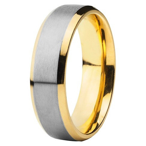 Men's Gold-Plated Titanium Two-Tone Band (6.5mm) - image 1 of 4