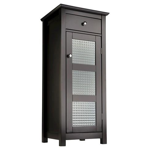 Chesterfield 1 Door Floor Cabinet with Drawer Dark Espresso - Elegant Home Fashions - image 1 of 3