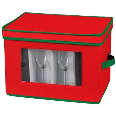 Household Essentials Holiday Flute Stemware Storage