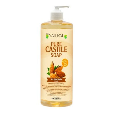 Dr. Natural Pure Castile Soap with Organic Shea Butter - Almond - 32 fl oz