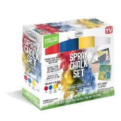 As Seen on TV Testors Primary 6oz Spray Chalk Set