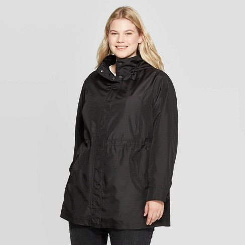 diversified latest designs classic style variety of designs and colors Women's Plus Size Rain Jacket - Ava & Viv™ Black 3X