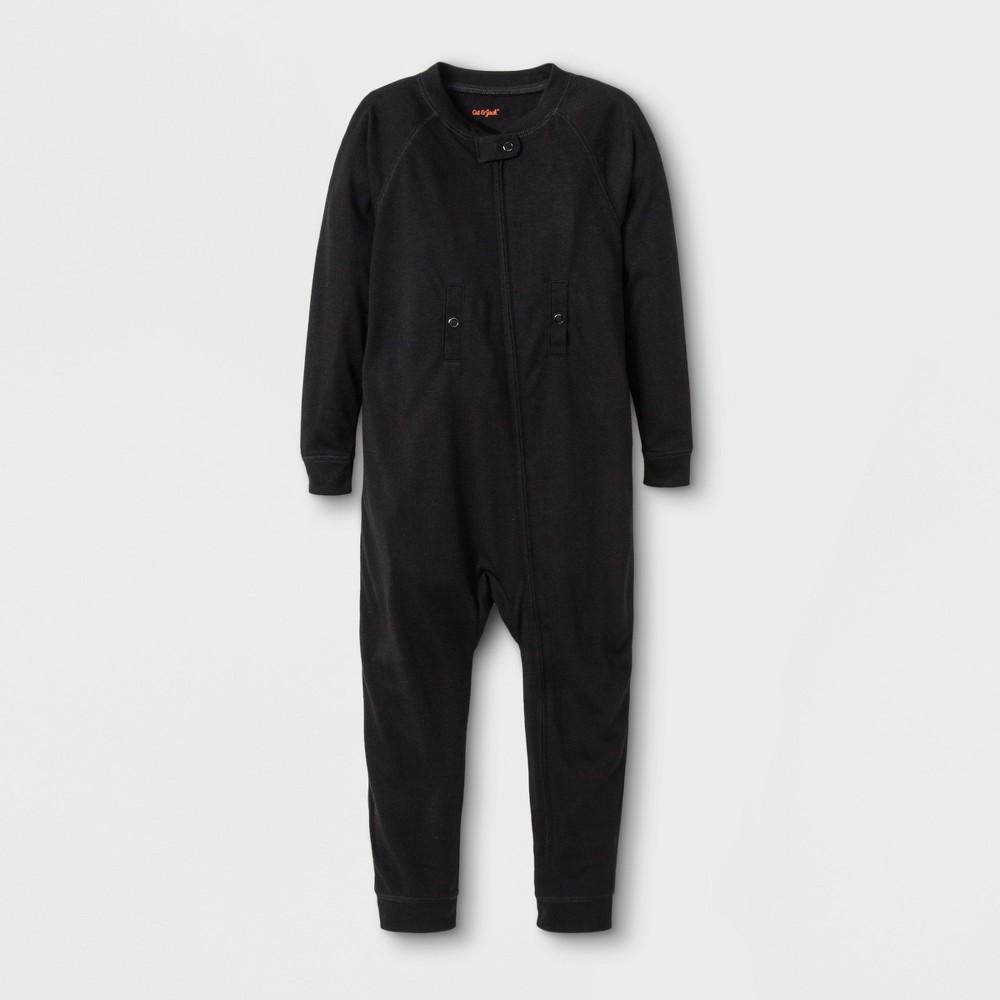 Toddler Adaptive Long Sleeve Union Suit - Cat & Jack Black 5T, Toddler Unisex