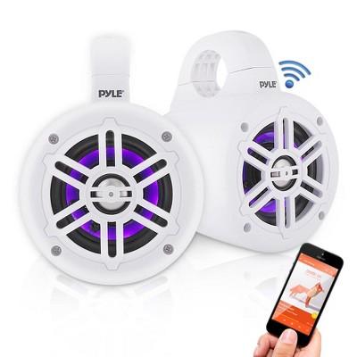 Pyle PLMRLEWB47WB 4 Inch 300 Watt Bluetooth Wireless Streaming Waterproof Marine Grade Tower Speaker System, Pair