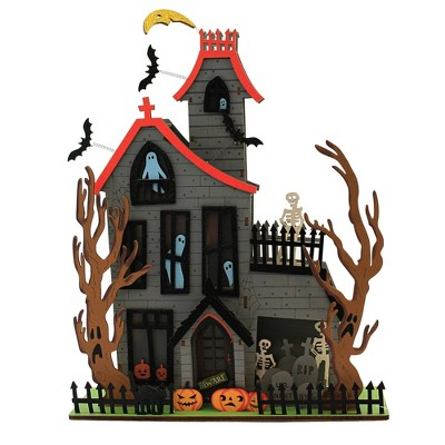 "Halloween 17.5"" Halloween House Spooky Ghosts Lighted  -  Decorative Figurines"