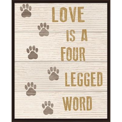 Love Is Four Legged Word Reclaimed Wood Wall Art