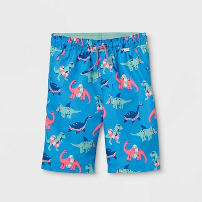 Boys' Dinosaur with Floaties Swim Trunks - Cat & Jack™ Blue