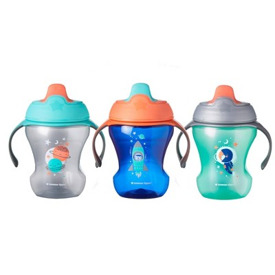 Tommee Tippee Infant Trainer Sippee Cup Boy - 3pk/24oz Total 7+M Blue