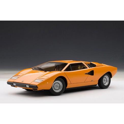 Lamborghini Countach Lp400 Orange 1 18 Diecast Car Model By Autoart