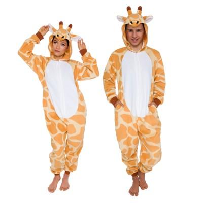 FUNZIEZ! - Giraffe Slim Fit Adult Unisex Novelty Union Suit