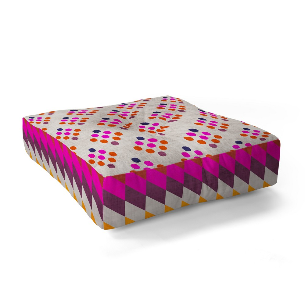 Holli Zollinger Diamond Weave Square Floor Pillow Pink - Deny Designs