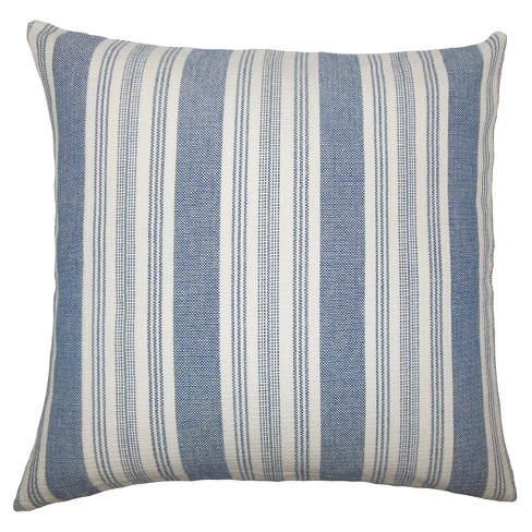 """Gray Stripe Square Throw Pillow (18""""x18"""") - The Pillow Collection - image 1 of 1"""