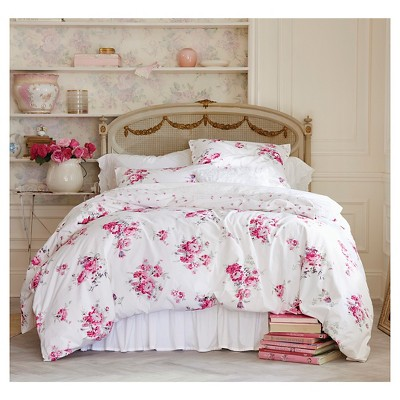 pink sunbleached floral duvet cover set simply shabby chic target rh target com Shabby Chic Duvet Covers Queen simply shabby chic duvet cover full