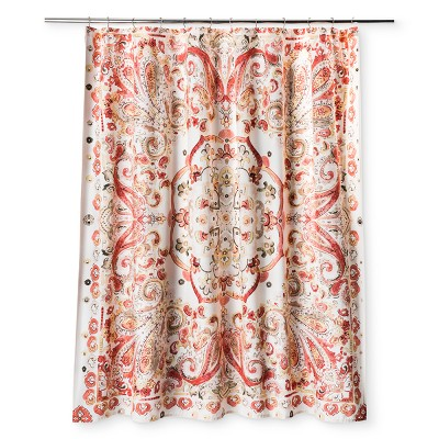 Leaf Coral Stone Shower Curtain White - Opalhouse™