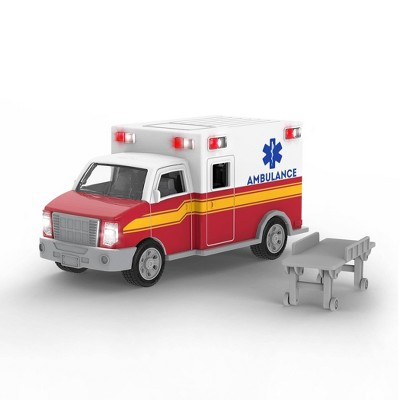 DRIVEN – Small Toy Emergency Vehicle – Micro Ambulance - White & Red