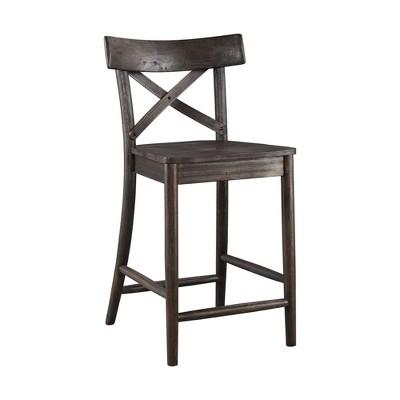 "1pc 24"" Calhoun Counter Height Barstool Dark Brown - Picket House Furnishings"