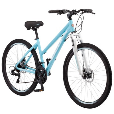"Schwinn Women's GTX-2 700c/28"" Dual Sport Hybrid Bike - Light Blue"