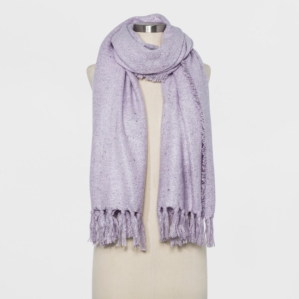 Women's Oversized Oblong Tassels Scarf - Universal Thread Lilac (Purple)
