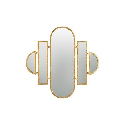 Art Decor 5-Part Wall Mirror with Gold Finish - 3R Studios